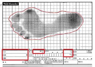 足型のサンプル